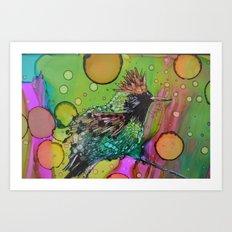 Tufted Coquette Bird Art Print