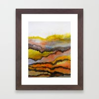 Watercolor abstract landscape 26 Framed Art Print