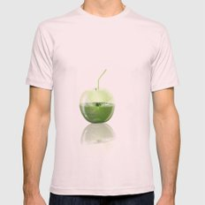 Apple Juice Mens Fitted Tee Light Pink SMALL