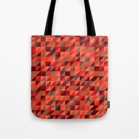 Quilted Reds / Retro Tri… Tote Bag