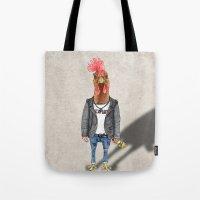 Punk Chiken.  Tote Bag