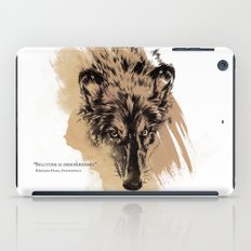 Solitude is independence iPad Case