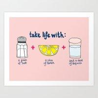 Take Life With A Grain O… Art Print