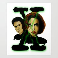 X-files 2 Art Print
