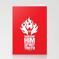 Worship Him In Spirit & In Truth Stationery Cards