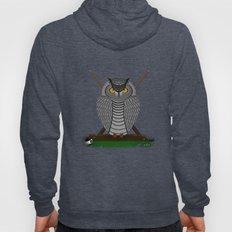 owl playing billiards Hoody