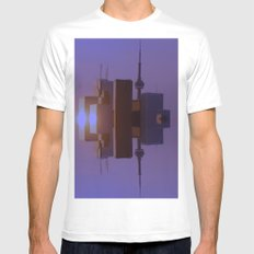 Skyline Symmetry in Toronto, Ontario  SMALL White Mens Fitted Tee