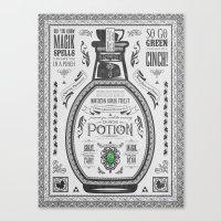 Legend Of Zelda Green Ch… Canvas Print
