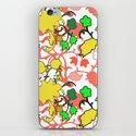 Lila's Flowers Repeat iPhone & iPod Skin