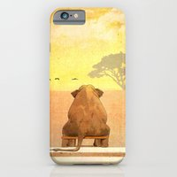 iPhone & iPod Case featuring The sitting elephant - for iphone by Simone Morana Cyla
