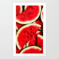 Water Melon Art Print