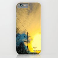 iPhone & iPod Case featuring Telephone Trees by a.rose