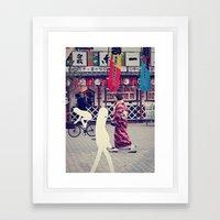 W A L K I N G I N T O K … Framed Art Print