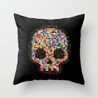 Spectrum Colors Arranged By Chance Throw Pillow
