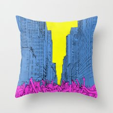 living for the city Throw Pillow
