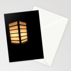 Asian Lamp in the night Stationery Cards