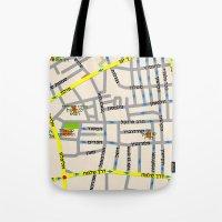 Tel Aviv Map Design - Fl… Tote Bag
