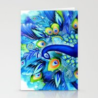 Peacock in Full Bloom Stationery Cards