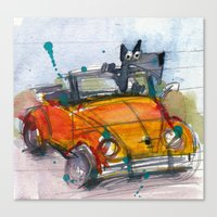 Scottish Terrier Driving… Canvas Print