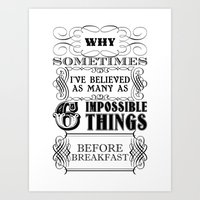 Alice in Wonderland Six Impossible Things Art Print