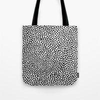 Black Triangles Tote Bag