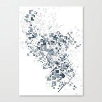 Broken And Pixels  Canvas Print