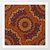 Color Me Autumn Kaleidos… Art Print