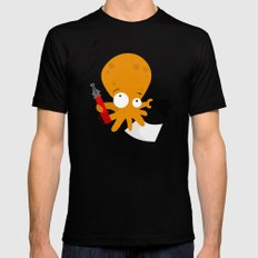 octopus SMALL Mens Fitted Tee Black