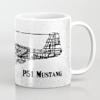 North American P51 Mustang (black) Mug