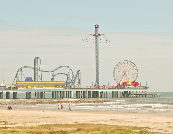Pleasure Pier Galveston Fun Art Print