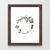 Yarrow, Sage, Lavender, … Framed Art Print