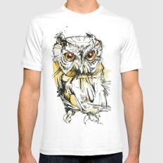 Little Screech White SMALL Mens Fitted Tee