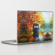 Starry Autumn Blue Phone… Laptop & iPad Skin