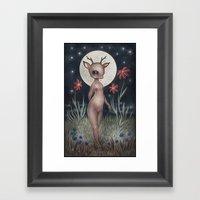Belle Biche Framed Art Print