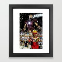 Iron Man: Dreaming Big Framed Art Print