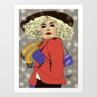Woman Of The 80s Art Print