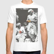 brighten up lads SMALL White Mens Fitted Tee