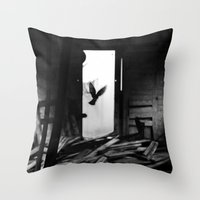 Abandoned Buildings have also Dwellers Throw Pillow