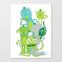 Done With Monster School… Canvas Print
