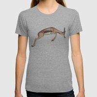 leaping gazelle Womens Fitted Tee Athletic Grey SMALL