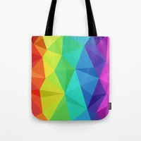 Rainbow Low Poly Tote Bag