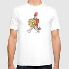 López, bass drum SMALL Mens Fitted Tee White