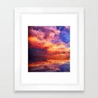 Sunset Abstraction Framed Art Print