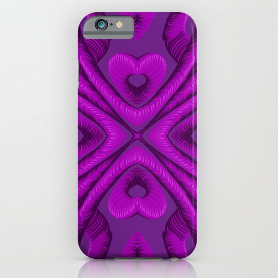 Hot Pink Hearts iPhone & iPod Case