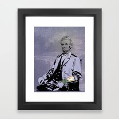 Inked Lincoln Framed Art Print