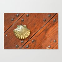 Gold Shell Canvas Print