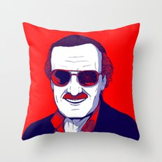 Stan Lee / Excelsior Throw Pillow