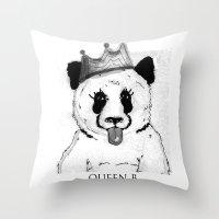 Queen B Throw Pillow