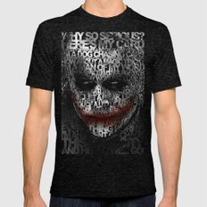 Halloween Psycopath Clown Typograph apple iPhone 4 4s 5 5s 5c, ipod, ipad, pillow case and tshirt Mens Fitted Tee Tri-Black SMALL