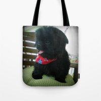 Patriotic Pup  Tote Bag